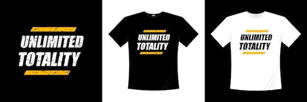 無制限の全体タイポグラフィtシャツデザイン