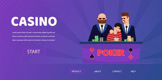 Unlucky man lose money security near casino table