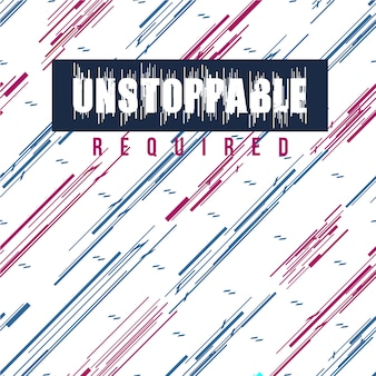 Unstoppable required abstract graphic pattern seamless design