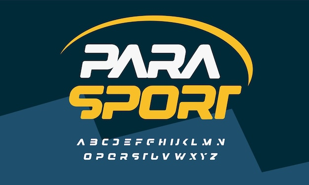 현대적인 로고 헤드라인을 위해 잘린 글자가 있는 특이한 굵은 기울임꼴 멋진 스포츠 스타일 알파벳