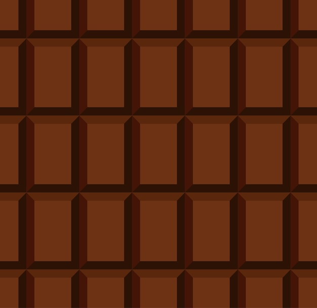 Unwrapped milky chocolate bar seamless pattern with rows of individual blocks
