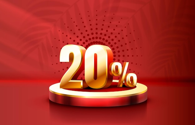 Up to 20 off sale banner promotion