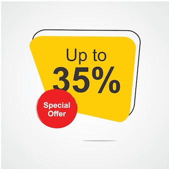 Up to 35% special offer logo