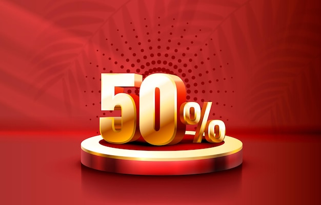 Up to 50 off sale banner promotion