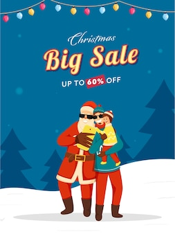 Up to 60% off for christmas big sale template design