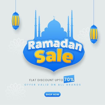 Up to 70% off for ramadan sale poster design