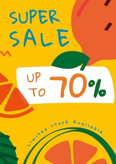 Up to 70% off summer sale template