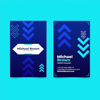 Up and down arrows business card template