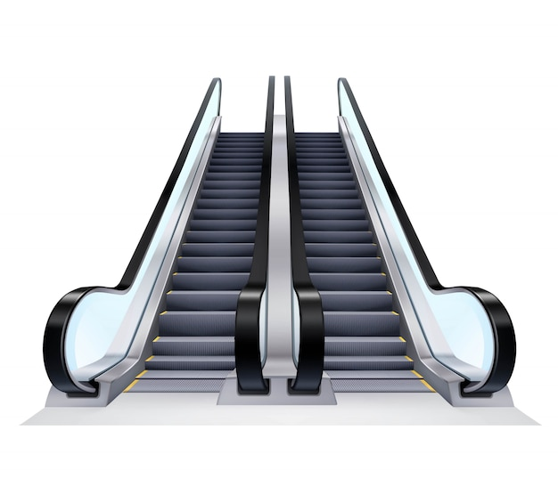 Up and down escalators set