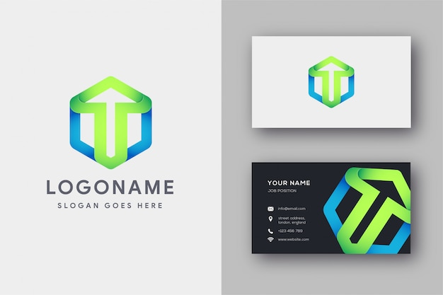 Up logo and business card