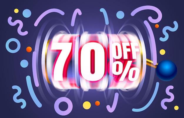 Up to  off sale banner promotion flyer slots label vector