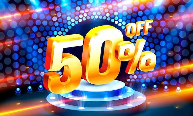 Up to  off sale banner promotion  retro label