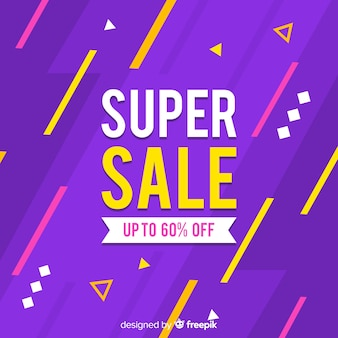 Up to sixty percent discount abstract sales banner