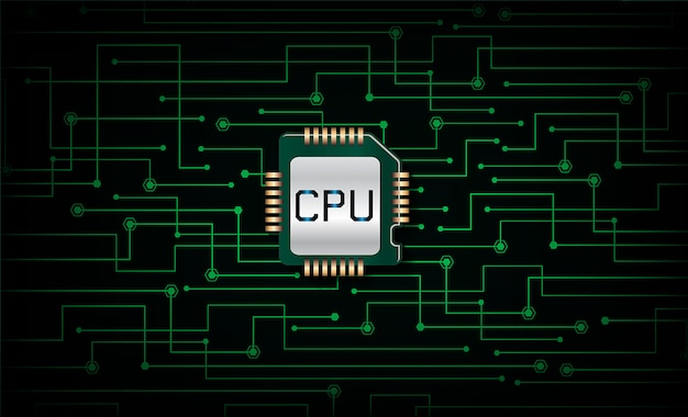 Upc green cyber circuit future technology concept background