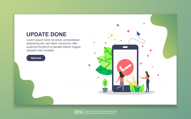 Update done with tiny people character landing page