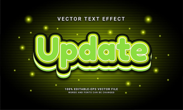 Update editable text effect with modern green color