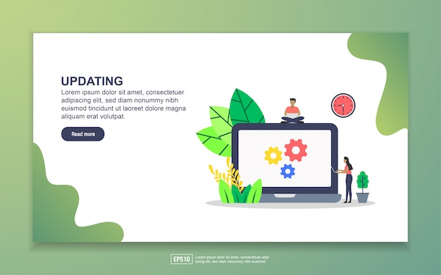 Updating with tiny people character landing page