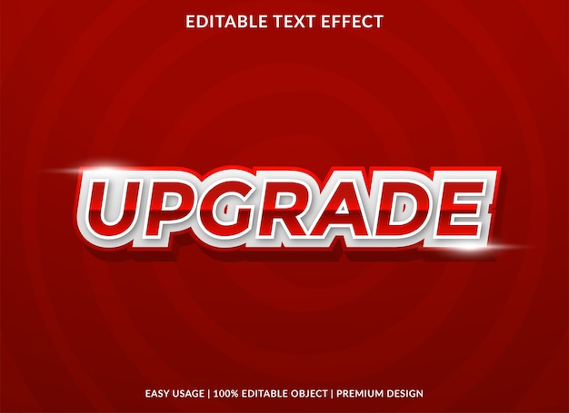 Upgrade text effect template