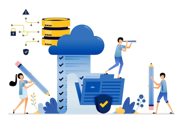 Upload and access storage of survey results from folder to secure cloud database service