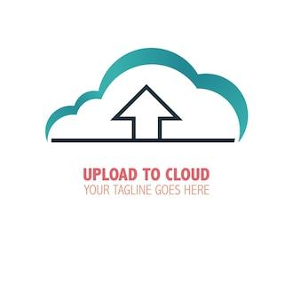 Upload to cloud logo