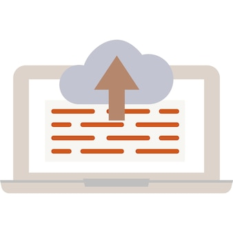 Upload download in cloud icon vector data storage
