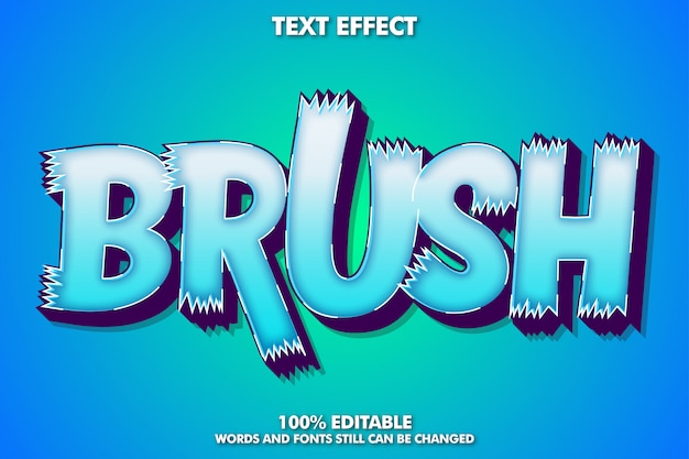 Uppercase of brush alphabet