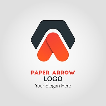 Шаблон бизнес-логотипа upside arrow