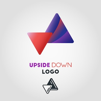 Upside down arrow logo template