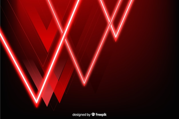 Upside down pyramid red shapes background