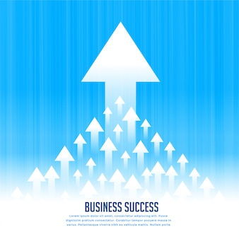 Upward rising leading arrows for business growth concept