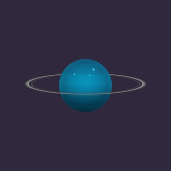 Uranus planet in deep space icon