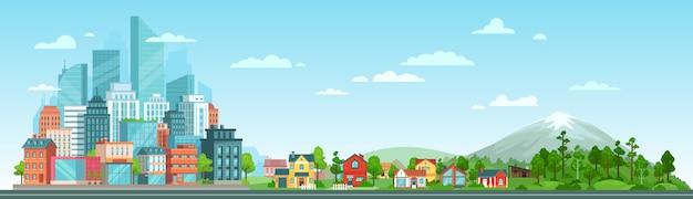 Городской и природный ландшафт