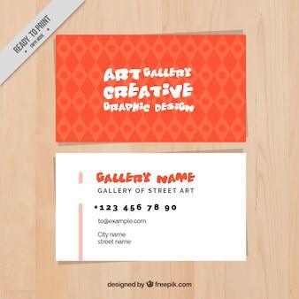 Urban art gallery , business card