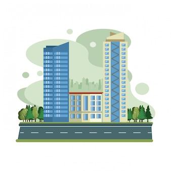 Urban buildings cityscape view scenary