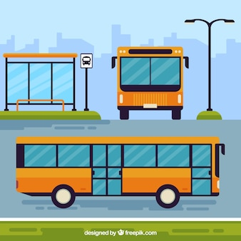 Bus Stop Vectors Photos And Psd Files Free Download