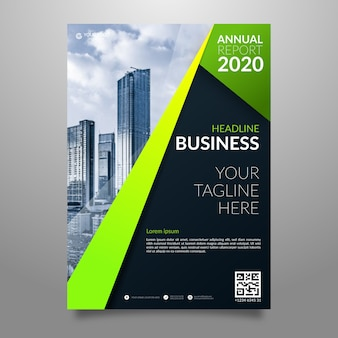 Urban business poster with photo