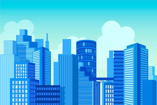Городской городской фон для видеоконференцсвязи
