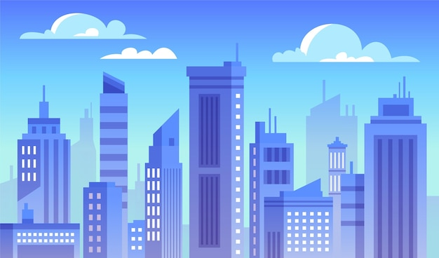 Городской город - фон для видеоконференцсвязи