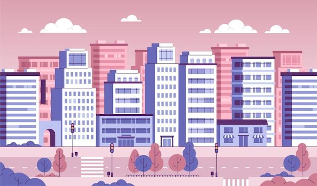 화상 회의를위한 도시 도시 배경