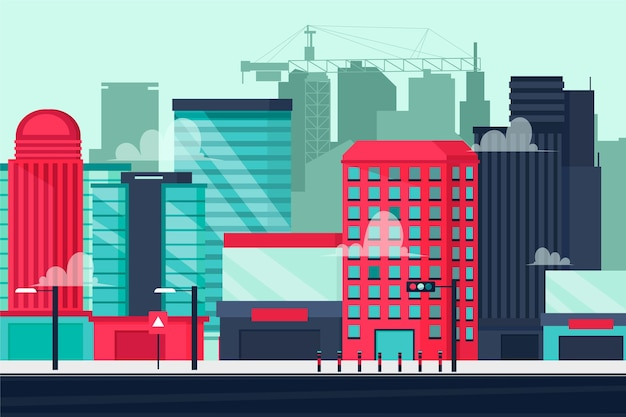 Sfondo città urbana per videoconferenza