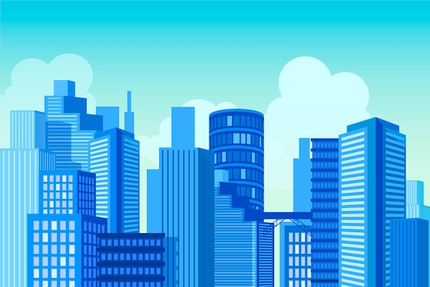 Urban city background for video conferencing