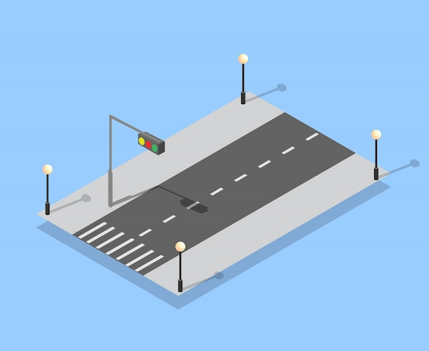 Urban city lane highway