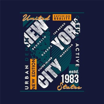 도시 데님 뉴욕 그래픽 타이포그래피 디자인 패션 티셔츠 디자인벡터