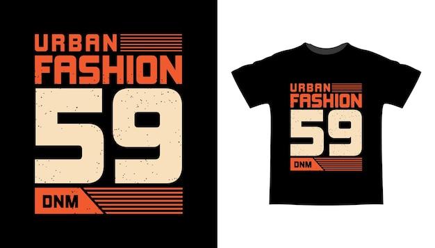 アーバンファッション59タイポグラフィtシャツデザイン