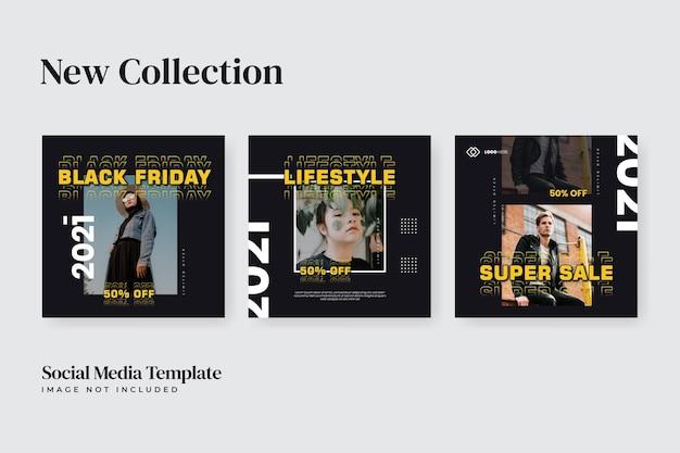 Urban fashion sale social media black friday template