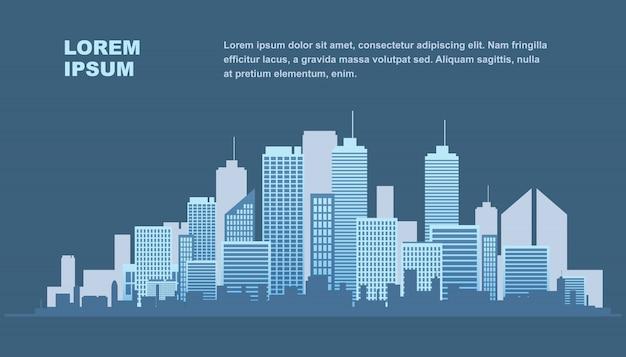 Urban landscape metropolis.