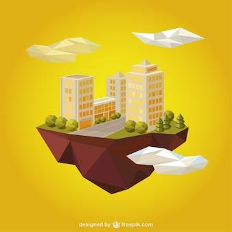 Urban lanscape in polygonal style