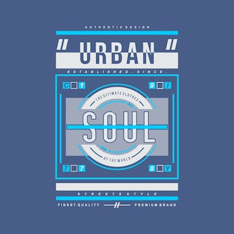 Urban modern graphic vector design typography