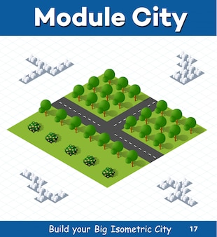 大規模な等尺性都市の建設と設計のための都市モジュール