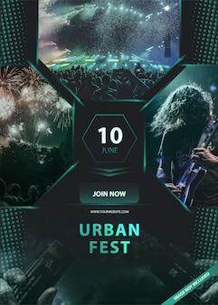 Urban music festival banner